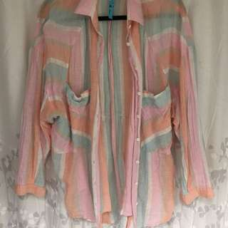 Free People Linen Button Up
