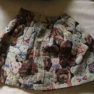 Teddy Bear Lined Skirt