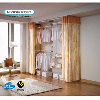 Living Star 3 Tiers 2 Basket Curtain (LS-3378)