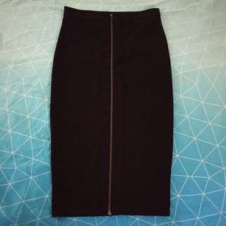 Sportsgirl Black Fitted Pencil Skirt