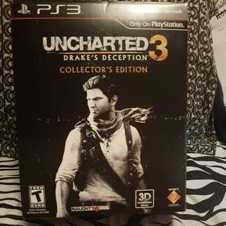 Uncharted 3 Collectors Edition. Come With Game Plus Alot More