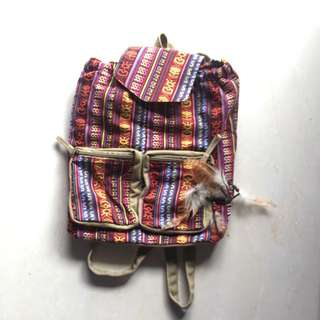 Tribal Print Rucksack/Backpack (小後背包)