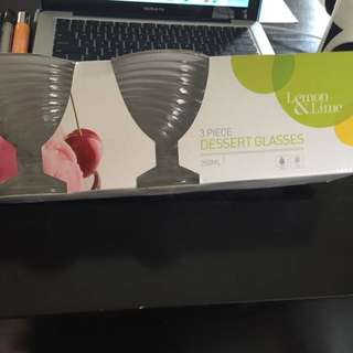 3 Piece Dessert Glasses