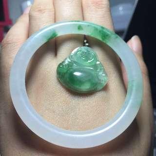 Jade 翡翠阳绿细佛公