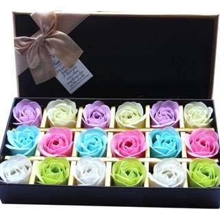 彩色玫瑰花香皂禮盒