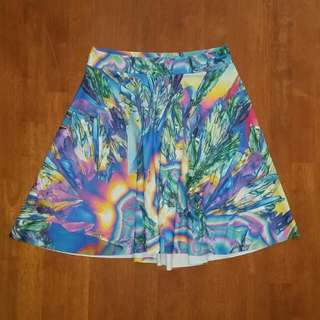 Black Milk Psychedelic Science Skater Skirt, Size Small