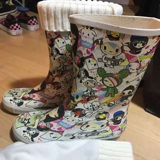 Cute Rain Boot With Socks