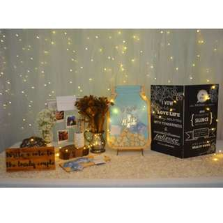 Wedding guest well wishes package Rustic theme