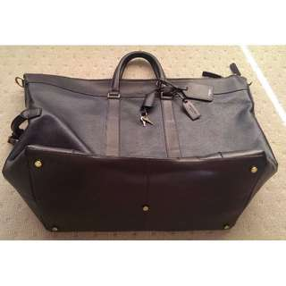 COACH BLACK/BROWN CROSBY LEATHER DUFFLE 77247