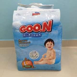 Goon Diaper Tape Size L 64pcs