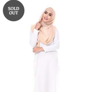 MinimaLace Basic Jubah Off White