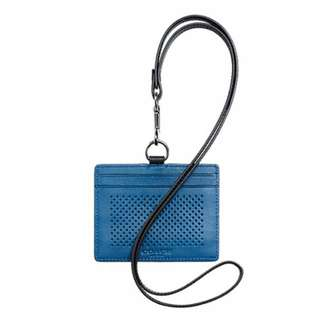 Coach ID Lanyard in Perforated Leather F65209DEN
