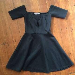 ASOS off should black dress