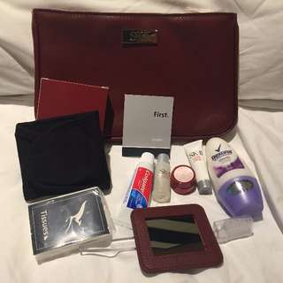 QANTAS SK-II FIRST CLASS FEMALE AMENITY CASE