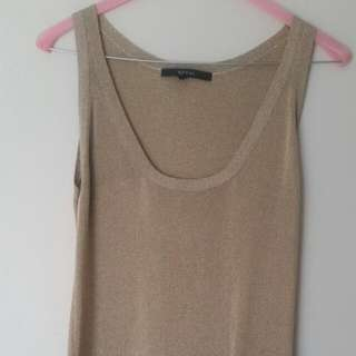 Gucci Gold Knit Top