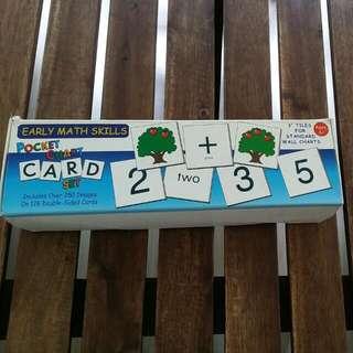 Early Math Skills Pocket Chart Card Set
