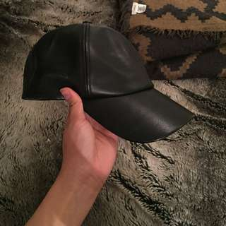 WILFRED FREE Leather Baseball Cap