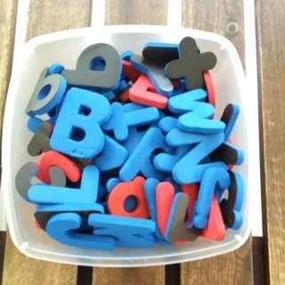 Magnetic Foam Letters