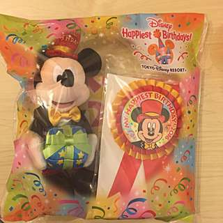 🇯🇵東京 廸士尼 米奇 生日套裝 🎁                        Tokyo Disney Resort Happiest Birthday Gift