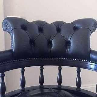 Grand Antique Desk/ Arm Chair