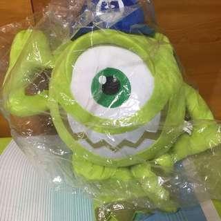 怪獸電力公司 怪獸大學 大眼仔 麥克華斯基 娃娃 玩偶