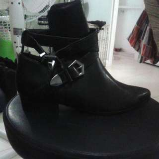 Black Buckle Up Boot