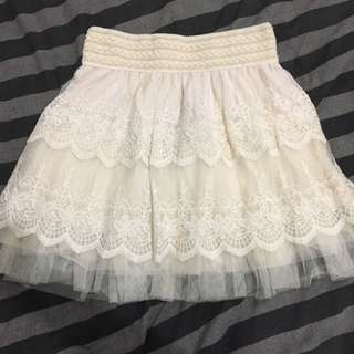 Off White Skirt