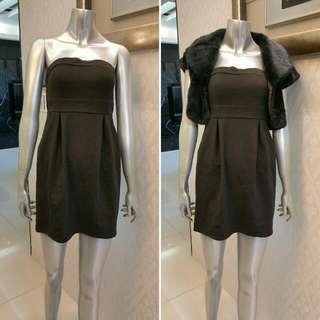 平口黑洋裝