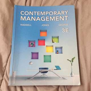 Contemporary Management Textbook