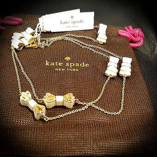 BNWT Kate Spade Moon River Scatter Necklace In Cream