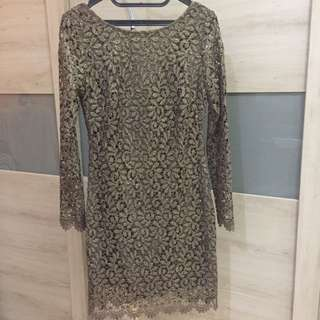 Authentic Bebe Lace Dress