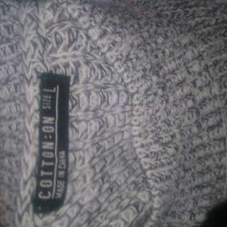 Grey Drop Cotton Sleeveless Top