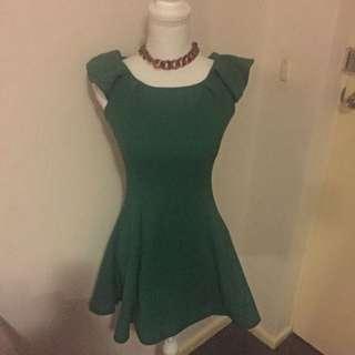 PEACOCK GREEN DRESS