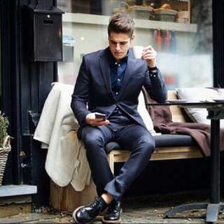 H&M Selected By Beckham Blazer Suit And Pants