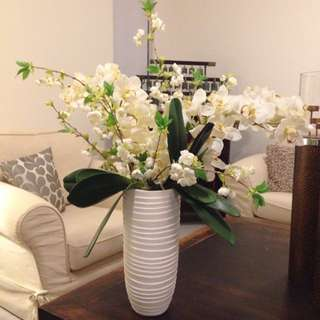 Orchid Arrangement In Porcelain Vase