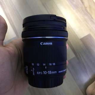 Canon EFS 10-18mm Wide Angle Lens