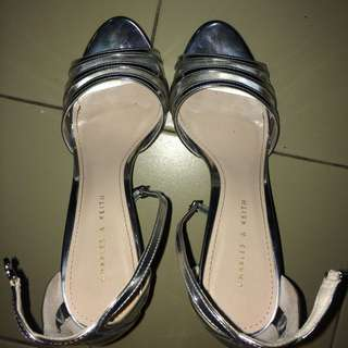 Charles & Keith Silver High Heels