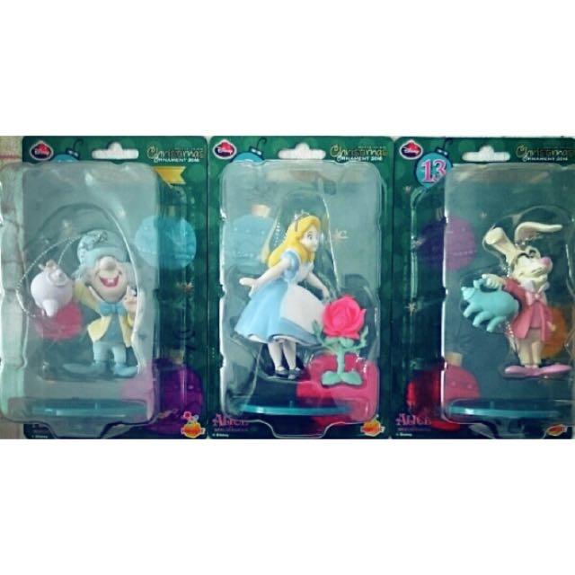 2016 迪士尼 聖誕節 一番賞 愛麗絲夢遊仙境 愛麗絲+三月兔+瘋帽子 三隻合售 公仔