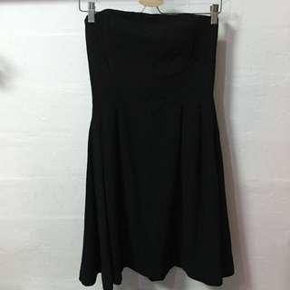 H&M Black Bustier Dress