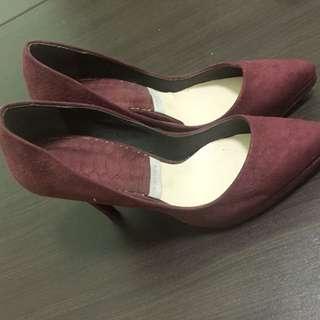 瑪麗喬 酒紅色高跟鞋