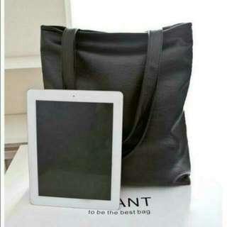Instock Black Leather Tote Bag (Pending, Murderfcuker)