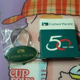 (全新絕版限量) CX 國泰航空公司50週年鎖匙扣/吊飾