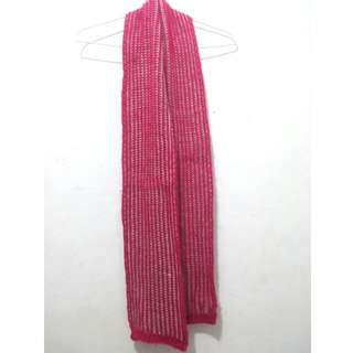 Fuschia Knitted Scarf