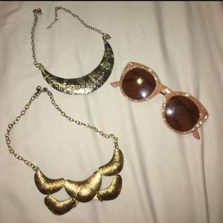 Necklaces And Sunglasses