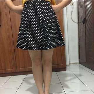 Flare Skirt Polkadot