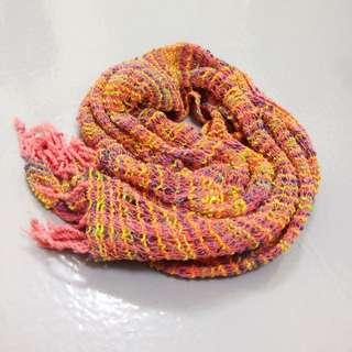 🎈omake。民族風嬉皮彩色編織圍巾