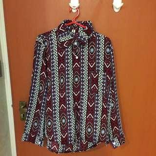 Aztec Button Up Shirt