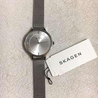 Skagen Anita Steel Mesh Watch Sliver 丹麥