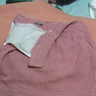 UCB Checkered Miniskirt