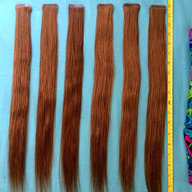 36 Light Brown Tape Extensions